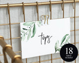 Nursery Drawer Labels, Greenery Baby Closet Labels, Closet Organizer, Nursery Decor, Floral Nursery, PDF Instant Download #BPB337_7B - Bliss Paper Boutique