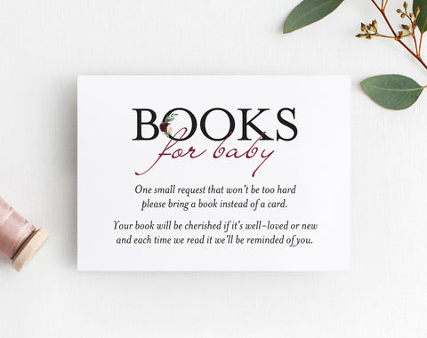 Book Request Card, Book Request Baby Shower, Books for Baby, Book Request Insert, Book Request Printable, PDF Instant Download #BPB338_2B - Bliss Paper Boutique