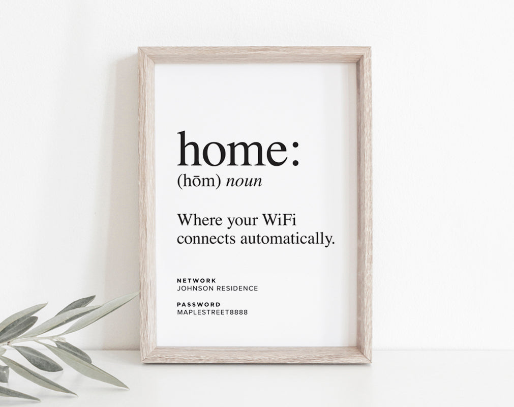 photograph about Printable Wifi Sign titled Household Is Wherever Your WiFi Connects Routinely, WIFI Pword Indication, Wifi Pword Printable, Web Indication, PDF Quick Down load #BPB340_G