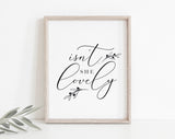 Nursery Wall Art quotes, Isn't She Lovely, Nursery Wall Art Printable, Nursery Quote Print, Nursery Quote Girl, PDF Instant Download #BPB342 - Bliss Paper Boutique