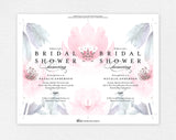 Floral Bridal Shower Invitation, Bridal Shower Wedding Printable, Wedding Shower Template, PDF Instant Download #BPB346_12 - Bliss Paper Boutique