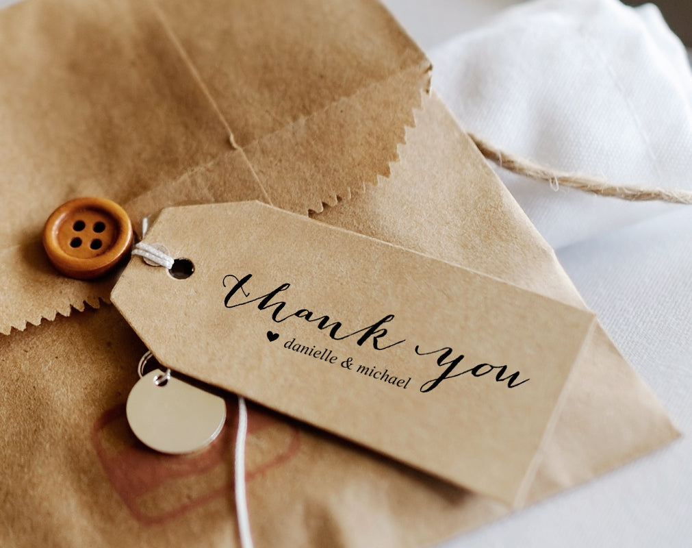 thank you tags for wedding favors