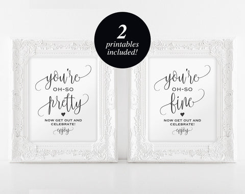 Wedding Bathroom Signs, Wedding Sign, Wedding Printable, Bathroom Printable, Look oh so, PDF Instant Download #BPB203_63 - Bliss Paper Boutique