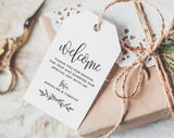 Welcome Tag, Wedding Welcome Bag Tag, Wedding Welcome Gift Tags, Welcome Tags, Welcome Bag Tag, Favor, PDF Instant Download #BPB202_24 - Bliss Paper Boutique