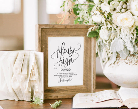Guest Book Alternative Sign, Guest Book Ideas, Guest Book Sign, Guest Book Printable, Sign, Wedding Sign, PDF Instant Download #BPB202_45 - Bliss Paper Boutique