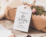 Welcome Wedding Tag, Wedding Welcome Bag Tag, Wedding Welcome Gift Tags, Best Day Ever, Welcome Bag, Favor, PDF Instant Download #BPB310_24 - Bliss Paper Boutique