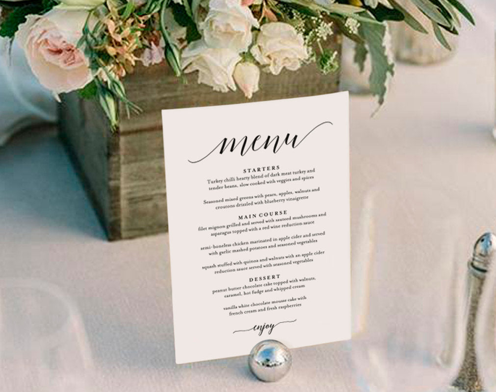Wedding Menu Template.Wedding Menu Template Wedding Menu Printable Wedding Menu Cards Table Menu Menu Sign Table Setting Pdf Instant Download Bpb310 4b
