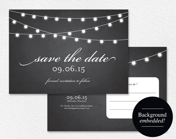 Save the Date Postcard, Save the Date Printable, Save the Date Template, Wedding Printable, Cheap, PDF Instant Download #BPB188_2 - Bliss Paper Boutique