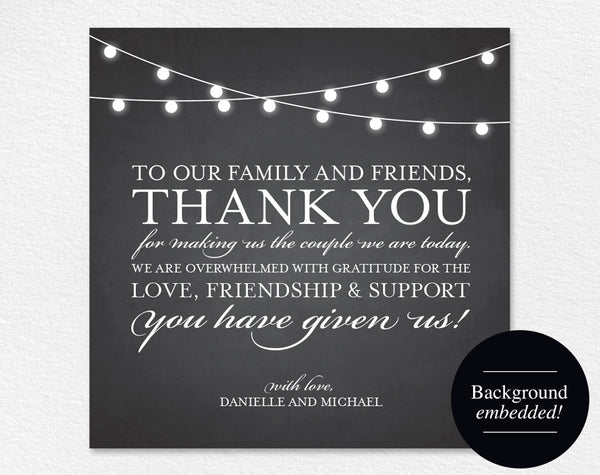 Wedding thank you cards, Place Setting Cards, Wedding Printable, Wedding Thank You Printable, Template, PDF Instant Download #BPB188_14 - Bliss Paper Boutique