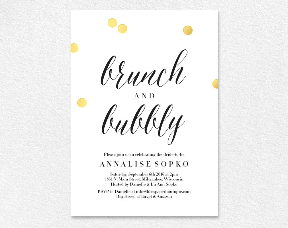 Day After Wedding Brunch Invitation: Bridal Brunch Invitation, Bridal Shower Invitation, Brunch