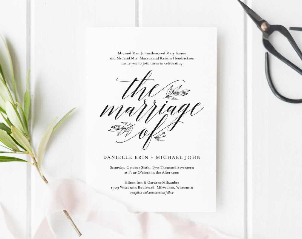 Wedding Invitation Template Rustic Printable Invite PDF Instant Download BPB312 1