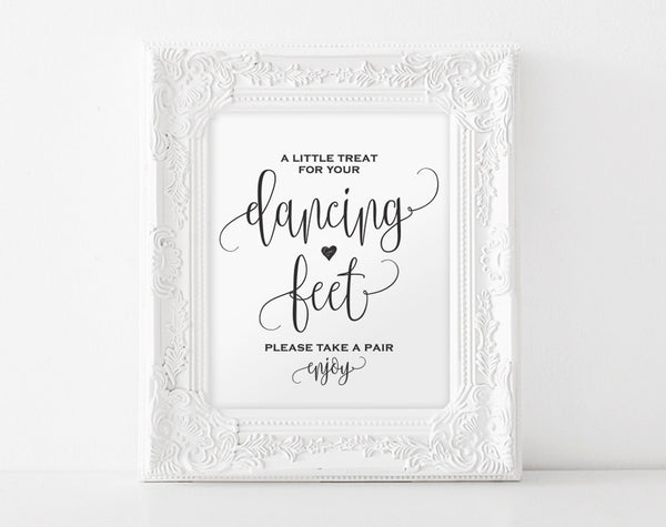 Dancing Shoes Sign, Dancing Feet Sign, Wedding Dancing Shoes Sign, Wedding Printable, Wedding Sign, PDF Instant Download #BPB203_74 - Bliss Paper Boutique
