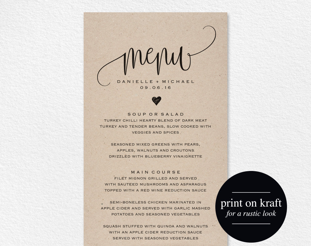 photo relating to Printable Menus Template named Rustic Marriage Menu, Marriage Menu Template, Menu Playing cards, Menu Printable, Rustic Wedding ceremony, Marriage Evening meal Menu, PDF Prompt Obtain #BPB203_4