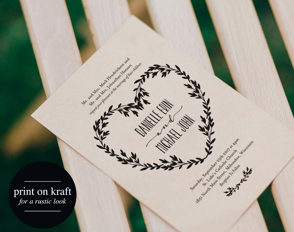 image about Printable Rustic Wedding Invitations known as Wedding ceremony Invitation Printable, Rustic Wedding day Invitation Template, Wedding ceremony Invite, Editable Invitation, Middle, PDF Prompt Obtain #BPB319_1
