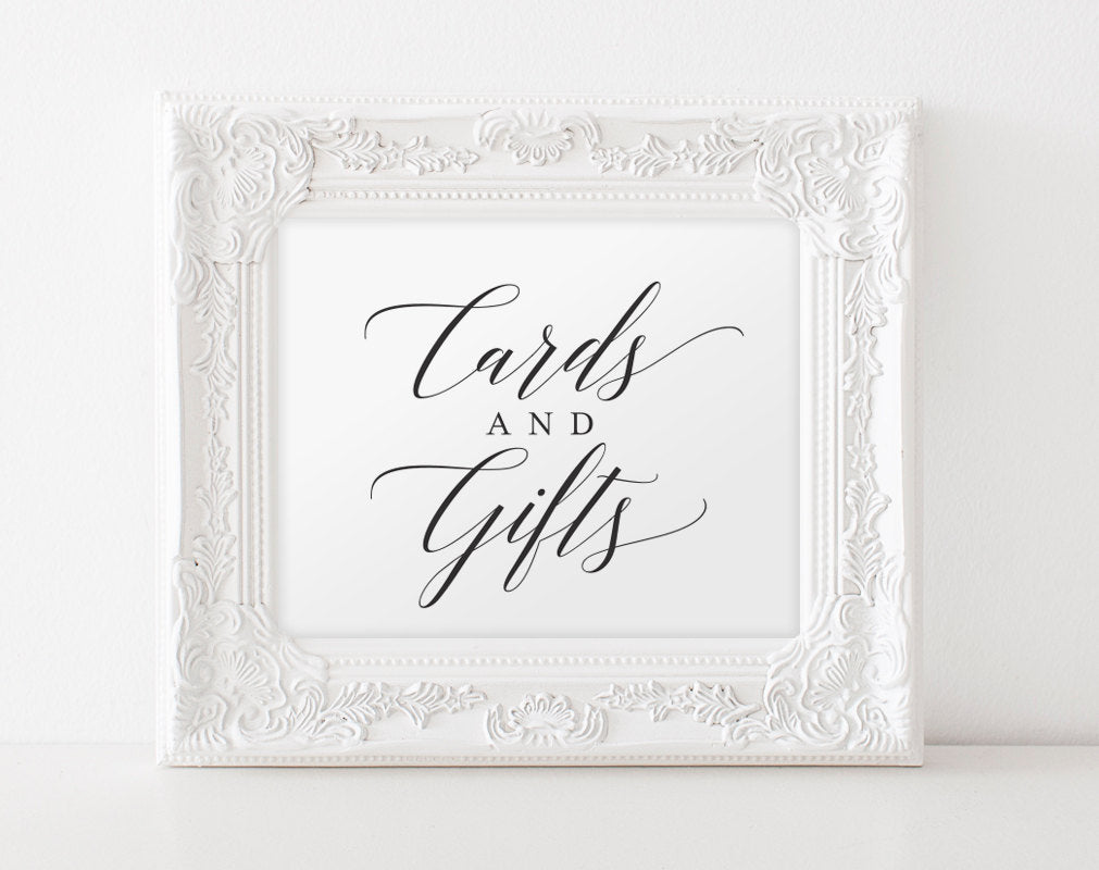 picture regarding Wedding Signs Printable named Playing cards and Presents Signal, Playing cards and Items Printable, Marriage Signs and symptoms, Reward Desk Signal, Marriage Printable, Do-it-yourself, PDF Prompt Down load #BPB310_40
