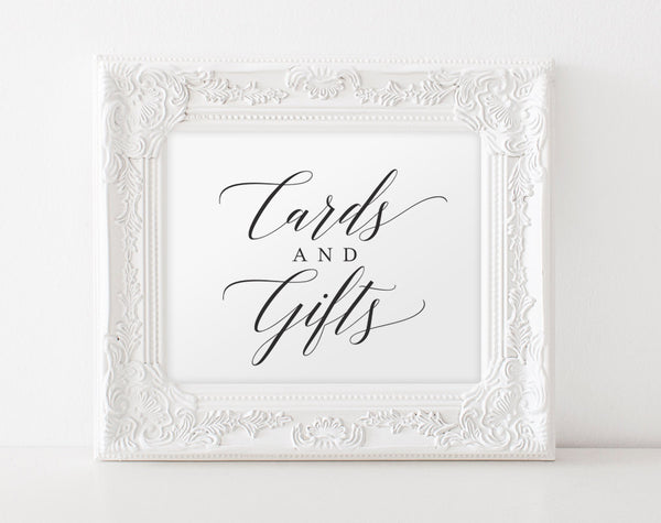 Cards and Gifts Sign, Cards and Gifts Printable, Wedding Signs, Gift Table Sign, Wedding Printable, DIY, PDF Instant Download #BPB310_40 - Bliss Paper Boutique