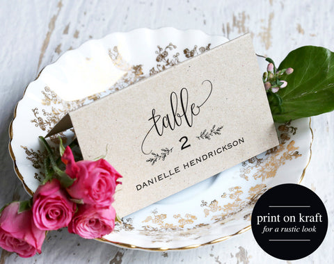 Place Cards, Wedding Place cards, Editable Place Cards, Printable Place Cards, Table Cards, Rustic Wedding, PDF Instant Download #BPB202_6 - Bliss Paper Boutique