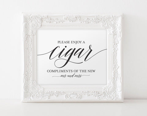 Cigar Bar Sign, Cigar Bar Printable, Wedding Sign, Wedding Ideas, Cigar Wedding Sign, Wedding Cigar Bar, PDF Instant Download #BPB310_79 - Bliss Paper Boutique