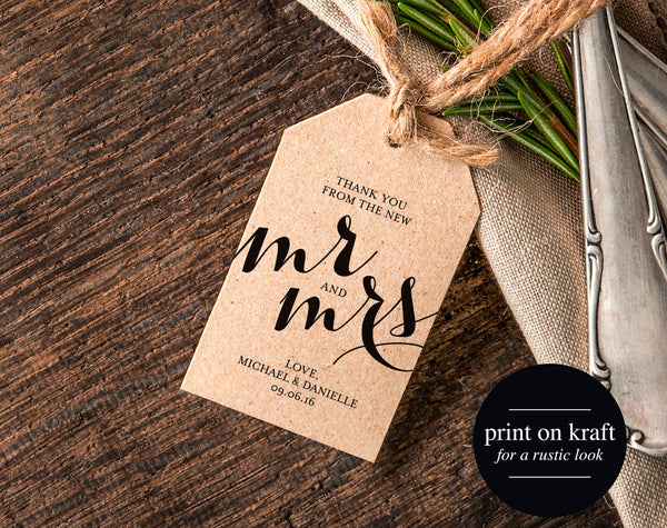 Thank You Wedding Tags, Rustic Wedding Tag, Gift Tag, Thank You Tag Printable, Rustic Wedding Printable, PDF Instant Download #BPB133_32 - Bliss Paper Boutique