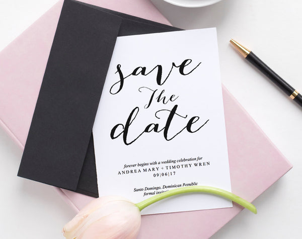 Save the Date, Save the Date Template, Save the Date Invitation, Save the Date Cards, Wedding Printable Template, PDF Instant Download #BPB3 - Bliss Paper Boutique