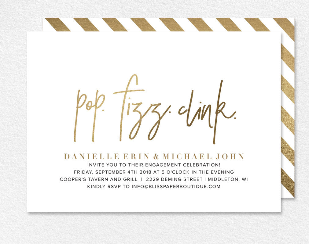 Engagement Party Invitation Party Invitation Engagement Party Printa Bliss Paper Boutique