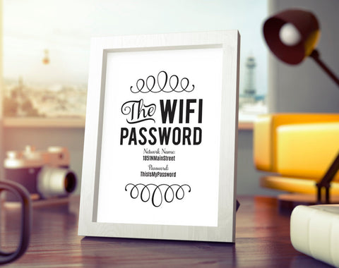 WIFI Password Sign, Wifi password printable, internet sign, Be our Guest Sign, Guest Wifi, Guest Room Sign, PDF Instant Download #BPB340_C - Bliss Paper Boutique