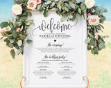Wedding program Printable, Welcome Wedding Sign, Program Sign, Wedding Sign, Wedding Poster, Template, DIY, PDF Instant Download #BPB203_60 - Bliss Paper Boutique
