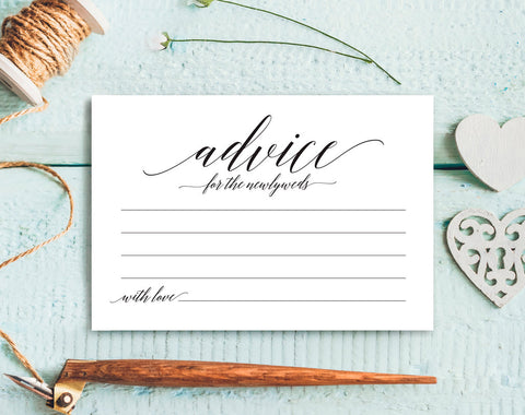 Wedding Advice Cards, Advice Cards, Marriage Advice, Advice Printable, Guest Book Alternative, PDF Instant Download #BPB310_15 - Bliss Paper Boutique