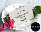 Rustic Place Cards, Wedding Place Card Template, Escort Cards, Wedding Printable, Rustic Wedding, PDF Instant Download #BPB190_6 - Bliss Paper Boutique