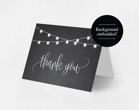 Thank You Card, Thank You Card Template, Thank You Cards Wedding, Template, Printable Thank You, DIY, PDF Instant Download #BPB299_27 - Bliss Paper Boutique