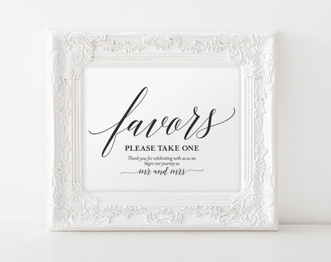 Wedding Favor Sign, Favors Sign, Wedding Favor Printable, Wedding Sign, Wedding Printable, Template, PDF Instant Download #BPB310_75 - Bliss Paper Boutique