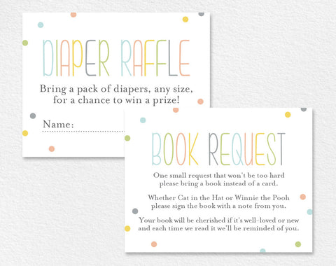 Book Request Card, Diaper Raffle Card, Book Request Insert, Books for the Baby, Book Request Baby Shower, PDF Instant Download #BPB93_2 - Bliss Paper Boutique