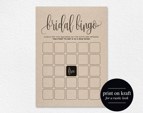 Bridal Shower Bingo, Bridal Shower Games, Wedding Shower Game, Bridal Shower Ideas, Bingo Template, DIY, PDF Instant Download #BPB203_12G_2 - Bliss Paper Boutique