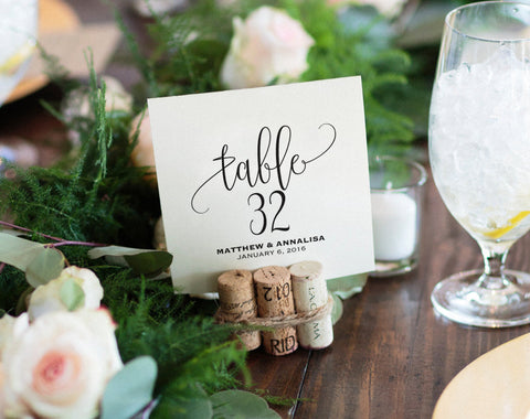 Table Numbers Printable, Wedding Table Numbers, Table Number Template, Wedding Printable, Wedding Ideas, PDF Instant Download #BP203_7 - Bliss Paper Boutique