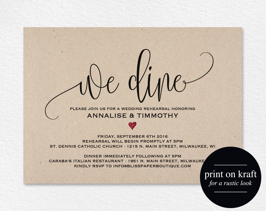 This is an image of Agile Free Printable Rehearsal Dinner Invitations