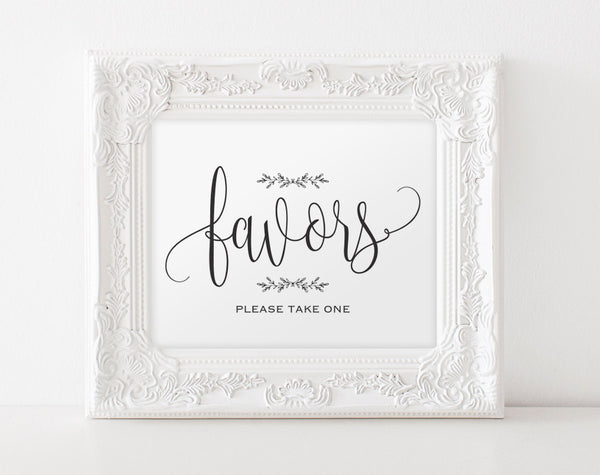 Favors Sign, Wedding Favors, Favor Sign Printable, Wedding Favor Sign, Wedding Printable, Wedding Template, Instant Download #BPB202_75 - Bliss Paper Boutique