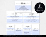 RSVP Cards, RSVP Postcard, rsvp template, wedding rsvp cards, wedding rsvp postcards, rsvp online, PDF Instant Download #BPB310_1_1 - Bliss Paper Boutique