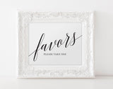 Wedding Favor Sign, Wedding Favors Sign, Wedding Favors for Guests, Wedding Sign, Favors Printable, PDF Instant Download #BPB310_75B - Bliss Paper Boutique