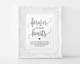 In Loving Memory Sign, Forever in our Hearts Sign, Memory Sign, Memorial Table Sign, In Memory, Wedding Sign, Instant Download #BPB203_54 - Bliss Paper Boutique