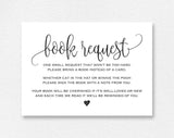 Book Request Card, Diaper Raffle, Book Request Printable, Books for the Baby, Book Request Template, PDF Instant Download #BPB309_2 - Bliss Paper Boutique