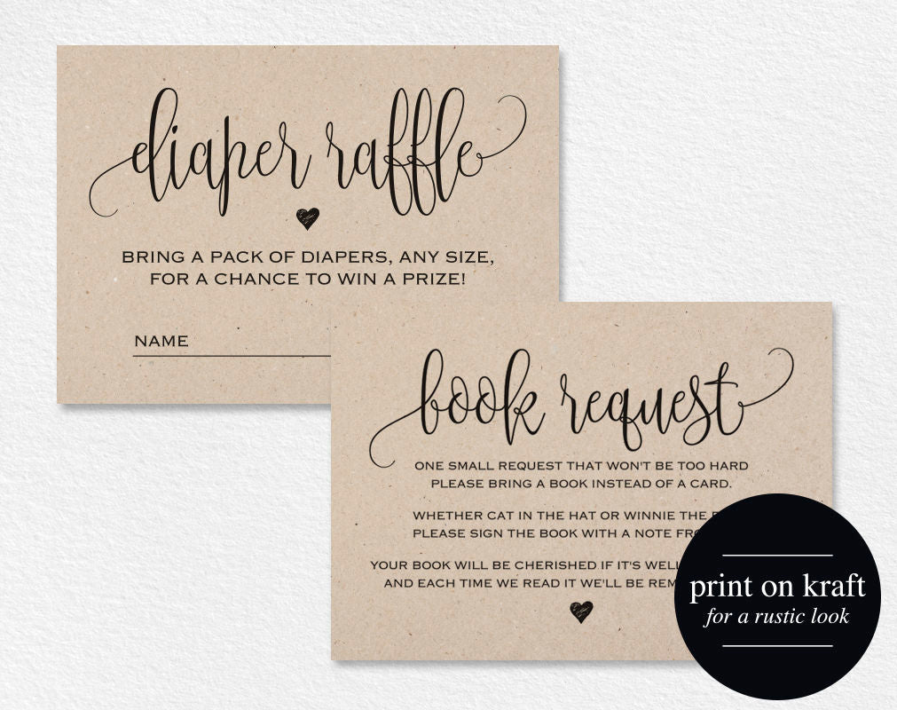 Book Request Card Diaper Raffle Book Request Printable Books For The Baby Book Request Template Pdf Instant Download Bpb309 2