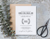 Rustic Wedding Invitation, Wedding Invitation Template, Wedding Invites, Wedding Invitation Rustic, PDF Instant Download #BPB304_1 - Bliss Paper Boutique