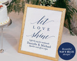 Sparkler Send Off Sign, Navy Sparkler Sign, Let Love Shine Sign, Sparkler Send Off, Wedding Sparkler Tags, PDF Instant Download #BPB320_46 - Bliss Paper Boutique