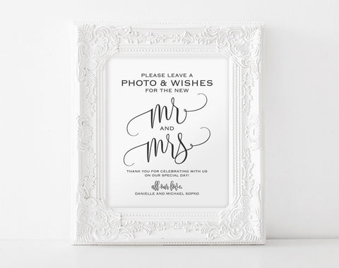 Photo Guest Book Sign, Guest Book Alternative, Wedding Guest Book, Guest Book Ideas,Photo Booth Sign, PDF Instant Download #BPB203_45B - Bliss Paper Boutique