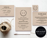 Wedding Invitation Set, Wedding Invitation Suite, Wedding Invitation Download, Rustic, Invitation PDF, PDF Instant Download #BPB190_1 - Bliss Paper Boutique