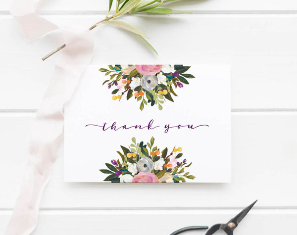 Baby Shower Thank You Cards, Thank You Notes, Thank You Card, Thank you Template, Thank Yous, PDF Instant Download #BPB328_3 - Bliss Paper Boutique