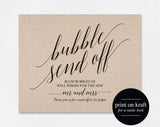 Wedding Send Off, Wedding Send Off Ideas, Bubble Send Off, Bubble Send Off Sign, Wedding Send Off Sign, PDF Instant Download #BPB310_80 - Bliss Paper Boutique