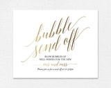 Faux Gold Bubble Send Off Sign, Bubble Send Off, Send Off Ideas, Wedding Send Off, Wedding Send Off Sign, PDF Instant Download #BPB324_80 - Bliss Paper Boutique