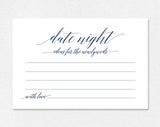 Navy Date Night Cards, Date Night Ideas, Date night idea cards, wedding advice cards, Navy Wedding Sign, PDF Instant Download #BPB320_16 - Bliss Paper Boutique