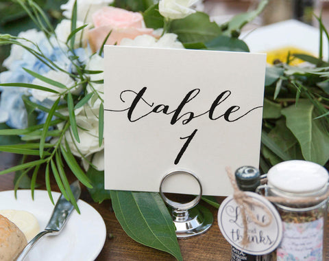 Wedding Table Numbers, Table Numbers Printable, Rustic Table Numbers, Tented Table Numbers, Folded, Template, PDF Instant Download #BPB165_7 - Bliss Paper Boutique